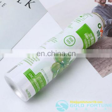 Olive Oil Aluminum Aerosol Spray Bottle