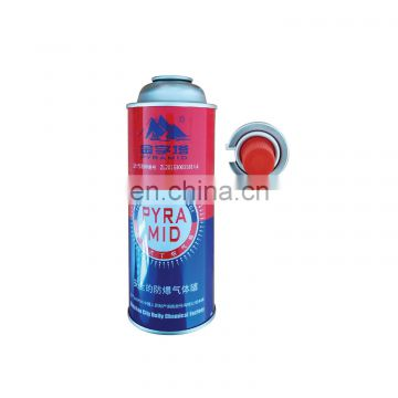 Camping butane gas cartridge and empty aerosol can wholesale