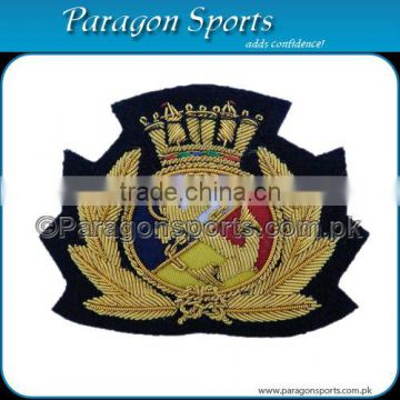 Bullion Handmade Embroidered Cap Badge PS-212