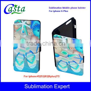 Blank Fashion Sublimation Phone holster luxury leather case Mobile phone Case Sublimation Mobile phone holster for iphone 6 Plus