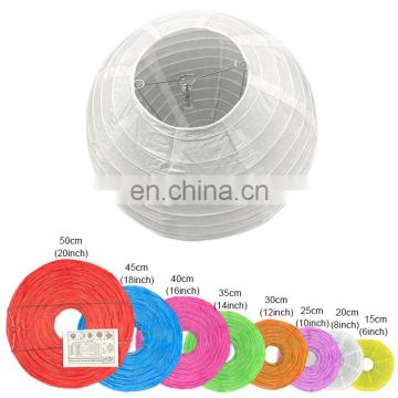 Led paper lantern (support custom package) hanging Round Chinese paper lantern with led light