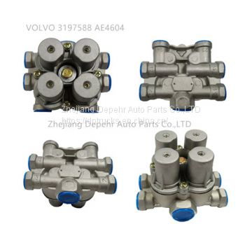 Zhejiang Depehr Heavy Duty European Tractor Control Valve Volvo FM9/12 Truck Multi-way Valve 3197588/AE4604