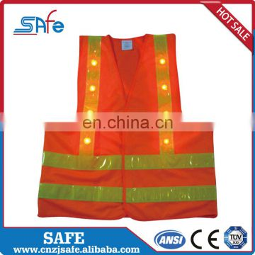 China Designer women's safety LED reflective vest