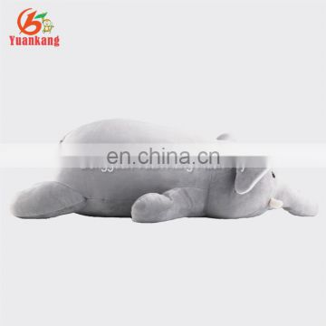 Custom baby stuffed animal plush grey elephant pillow with big ears