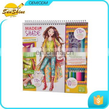 Personalized cheap notebook printing fashion design sketch book