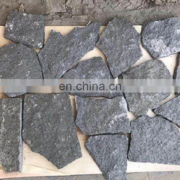 Dark grey granite random stone