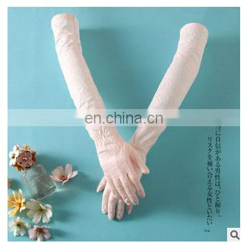 Cosplay maid lace glove pink long glove for lovely girl ladies glove