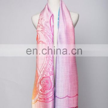 Color cashew nuts viscose jacquard pashmina shawl & scarf 70*180cm add 2*10cm fringe good quality