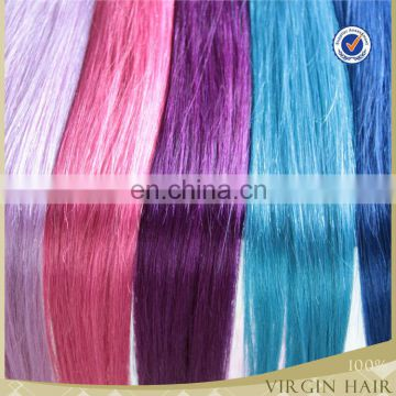 wholesale brazilian human hair Tape hair blue color human hair weaving