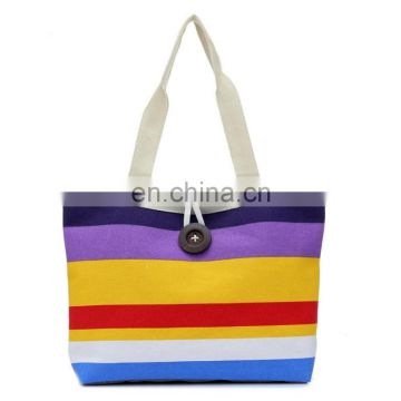 Customized natural cotton canvas tote shopping bag washable