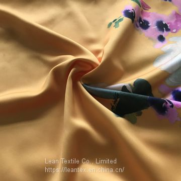 Polyester Dull Satin Fabric Custom Printing