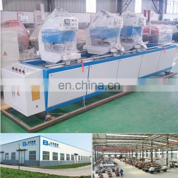 Three head UPVC profile welding window machine
