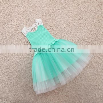 Mint green children long dresses short sleeve kids boutique ball gown baby girl party frock summer                                                                         Quality Choice                                                                     S