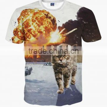 Wholesale 2016 hot sale custom made 3d printing t-shirt/3D t-shirt