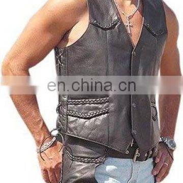 Gents Leather Vest Art No: 1324