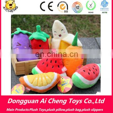 wholesale lovely mini plush fruit and vegetable toys custom Logp