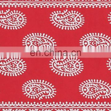 Paisley Blue Block Print Rajasthani Double Bed Sheet