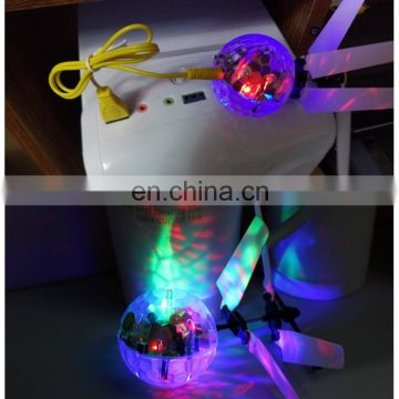 Mini Fun Kids Toy Suspended Crystal Ball Sensing Aircraft Hand Induction Flying Aircraft with Colorful LED Light