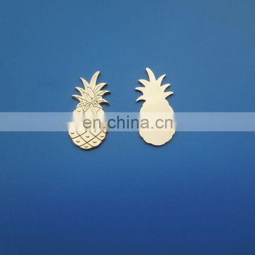 high quality gold plated pineapple metal plate tag