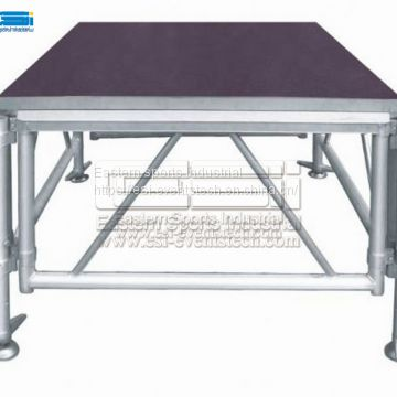Manufacturer Supplier Cheap Material Portable Aluminum Frame Temporary Modular Stage Platform Concert Event