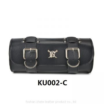 Hot Sale Black Roll Leather Motorcycle Tool Bag