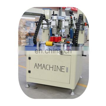Advanced electric knurling machine and strip insertion for aluminum window and door