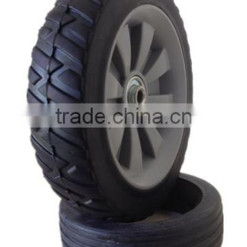 7 inch semi-pneumatic rubber wheel for garden cart, lawn mower, trolley