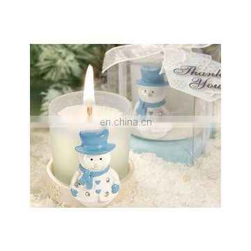 Snowman Candle Favors