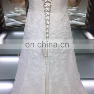 2016 new arrivals fashion lace wedding dress made in China/ high quality lace up fashion wedding evening dress