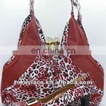 2012 colorful new style shoes and bag