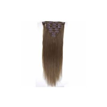 18 Inches Chocolate Clip In 20 Inches Hair Extension Grade 8a Reusable Wash