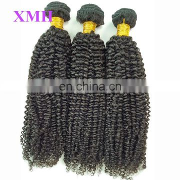 New arrived top quality afro kinky curly weaving virgin remy hair weft brazilian human hair