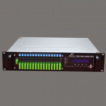 Management 32-port CATV 1550 EDFA Optical Amplifier with WDM Built-in