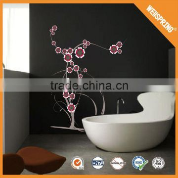 Popular fancy 3d bathroom wall tile stickers