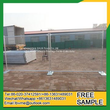 Hot galvanized square tube style temporary fence