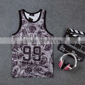 OEM Service Sublimation tank top dry fit vest 3d dye sublimation tank top print your own design tank top with high quality