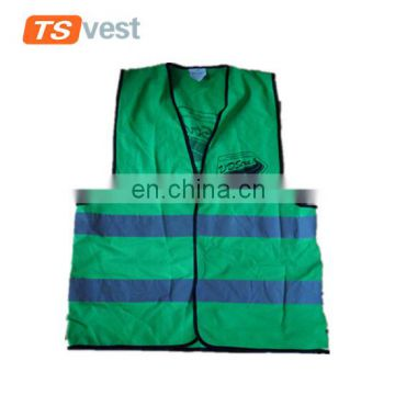 China factory supply dark green logo printed cotton safety vest