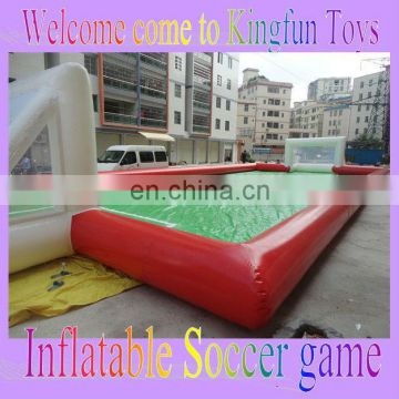 Customized inflatable soap soccer playground