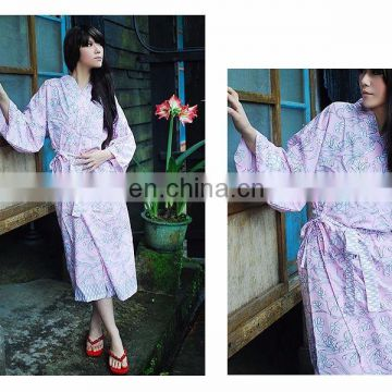 Chinavictor Sexy 100% Cotton Women Adult Free Size Japan Bathrobes