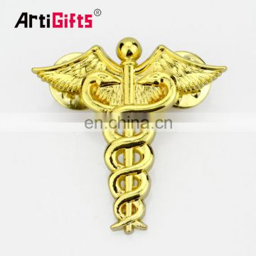 Manufacturers china wholesale magnetic back gold angel lapel pin