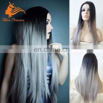 Aliexpress Full Lace Wig Ombre 1BTGrey Virgin Brazilian Human Hair Wigs With Baby Hair For Women
