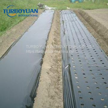 black plastic agricultural perforated mulch film