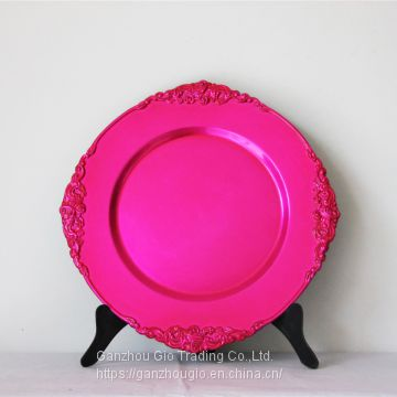 Plastic charger plate,christmas decoration plate
