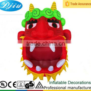 DJ-XT-94 inflatable advertising cheap halloween red devil mask door decoration