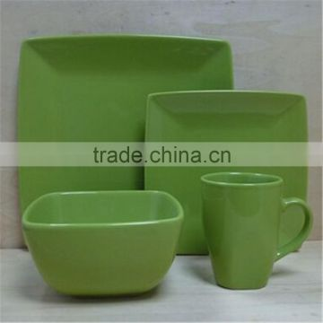 color glazed dinnerware set