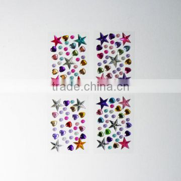 2017 DIY Diamond Rhinestone Adhesive Custom Acrylic Diamond Sticker