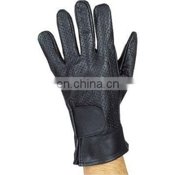 HMB-2090A LEATHER BIKER GLOVES SUMMER PERFURATED GLOVES