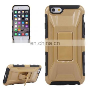 3D Sports Car Pattern PC + TPU Combination Case with Holder for iPhone 6 Plus(Coffee)