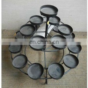 Black metal candlestick decorative/Candle holder for home decoration