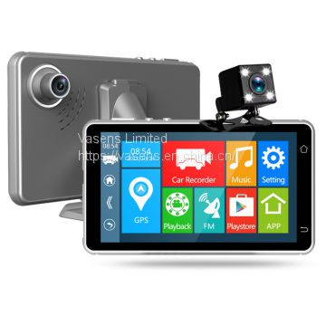 5inch IPS Screen Car DVR with Dual Camera, Android System, FHD Night Vision
